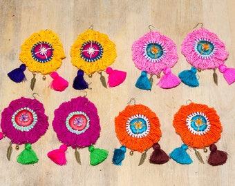 Flower Tassels Earrings/hippie/boho
