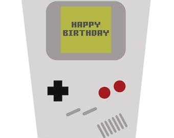 Game Boy Inspired Birthday Card