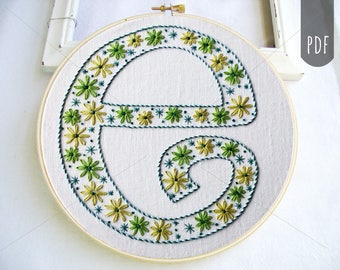 Complete Alphabet Embroidery Pattern PDF Monogram Lettering A to Z