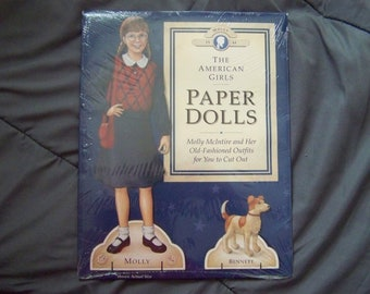 Original Mint in Package 1992 American Girl Paper Doll Molly Pleasant Company