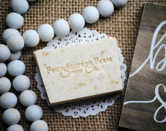Handmade Soap, Tranquility Oatmeal Soap, Soothing soap, Comforting Soap, Vegan, Gluten Free Soap