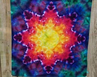 Tie dye bandana / tye dye bandana / XL tie dye bandana /  tie dye scarf / tye dye scarf / rainbow bandana / mandala tie dye /
