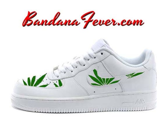 d68895d38b06e ... Custom Weed Pot Leaf Nike Air Force 1 Shoes White Low FREE ...