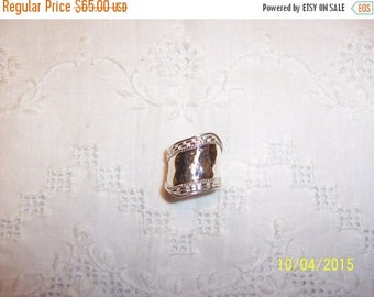 TWICE A YEAR, 25% Off Vintage Hammered Cigar band ring. Sterling silver.