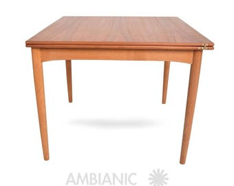 Danish Modern Teak Folding Dining Table