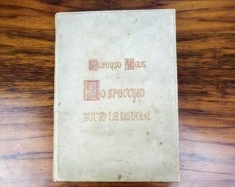 Vintage 1929 Lo specchio sotto le nuvole by Alfonso Mele, First Edition Italian Books