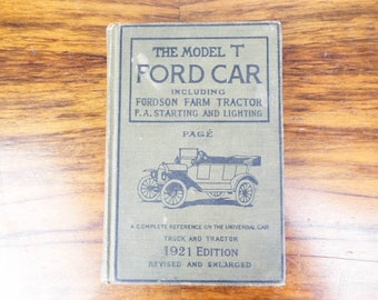 Vintage 1921 Edition The Model T Ford Car including Fordson Farm Tractor