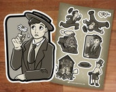 Stickers / Buster Keaton stickers / Silent Film stickers / Silver Screen / Silent Cinema / 1920's nostalgia / Golden Age Hollywood / Sticker