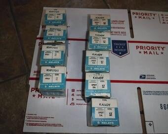 vintage Potter & Brumfield relays KHP17D11 4PDT 6V DC  X 4 and KA14DY 3PDT 5A 6V DC  x5