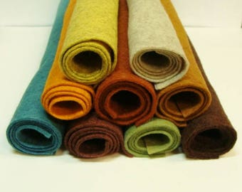 Fall Collection Wool Felt Blend Fabric Sheets 9 Colors