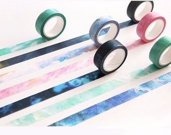 Washi tape, GALAXY washi tape, Japanese Washi Masking Tapes great for packaging, scrapbooking, invitation making, party decoration