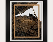 Hamilton - Ontario - Canada - Minimalist City Map Art Print - 11x14 Inches - Living Room Home Decor - Great Gift Ideas - Office Wall Poster