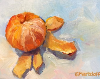 Original Fruit Still Life Oil Painting on Canvas