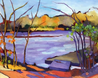 Fall Convergence Plein Air Abstract Landscape Oil Painting