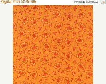 SUMMER SALE Fat Quarters ONLY - Retro Orange Flowers From Robert Kaufman