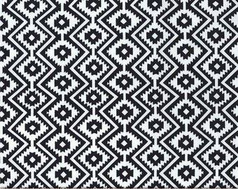 Black Little Eduardo Stripes from Michael Miller Fabric's Llama Navidad Collection