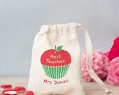 Personalised Teacher sweet bag - thank you gift, teacher gift -  choose from just the gift bag, or add marshmallows or heart sweets
