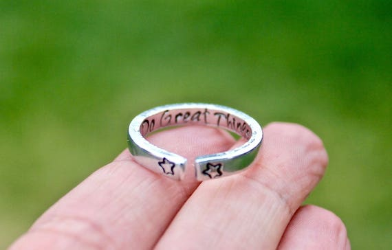 Do Great Things Mantra Ring