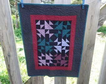 Amish inspired small quilt, small quilt, 0528-01