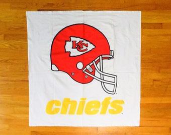 Vintage Kansas City Chiefs Helmet Logo Square Tablecloth