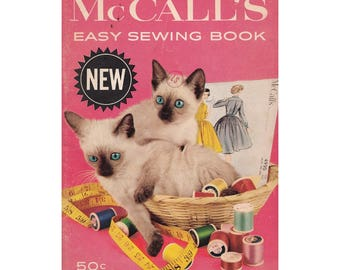 Vintage 1960 McCalls Easy Sewing Book Illustrations and Instructions for Buttonholes, Cutting, Finishes, Fitting, Pressing and More