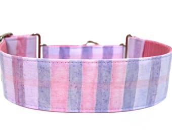 "Spring Dog Collar 2"" wide Martingale Dog Collar for Large Breed Dogs Pastel Dog Collar Easter Dog Collar"