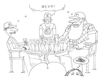 Beer cartoon print