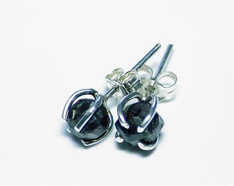 Garnet Earrings,Silver Stud Earrings,Raw Crystal Earrings,Gift For Her, Valentine's day gift, Artisan Earrings
