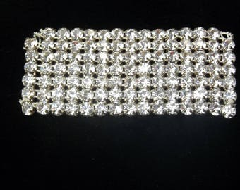 1950's Vintage Clear Rhinestone & Gold Metal Backing Sew On Applique Embellishment Gift For Her on Etsy