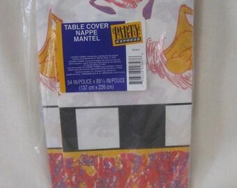 Vintage Looney Toons TAZ Tablecloth
