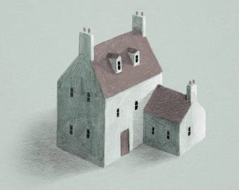 Lonely House Illustration Print