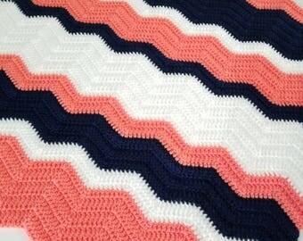 CHEVRON baby blanket/Afghan