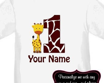 ON SALE Griaffe Personalized Birthday Shirt - ANY Age