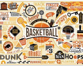 """BASKETBALL- 11X14"""""""