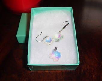 Crystal Cross Earrings Crystal Cross Necklace Crystal Cross Easter Jewelry Easter Gift For Her Sterling Silver Earrings Buy3+1 Free
