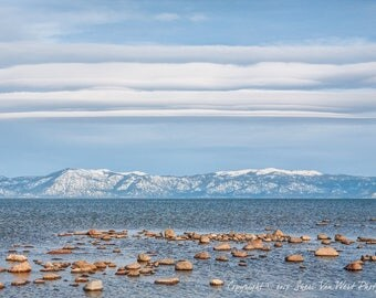 Lake Tahoe, California Photography - Sierra Nevada Mountains, Living Room Decor, Large Landscape Print, Framing Option