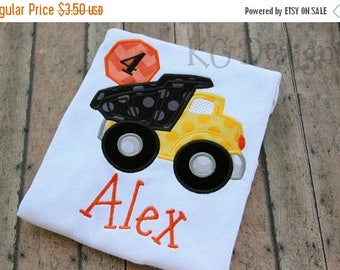 ON SALE Construction Truck No 4 Machine Embroidery Applique Design - 5x7 & 6x8