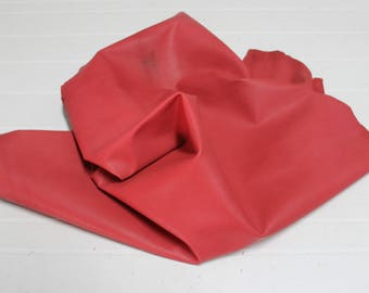 Italian Gaotskin Goat leather skin hide skins hides UNFINISHED RED 6sqf #A2596