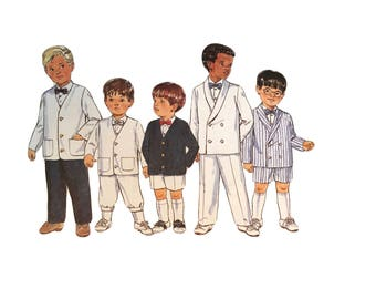 Vintage 1990s Butterick Sewing Pattern 4355 Toddler Suit Size 2, 3, 4 Formal Special Occasion Boys Girls