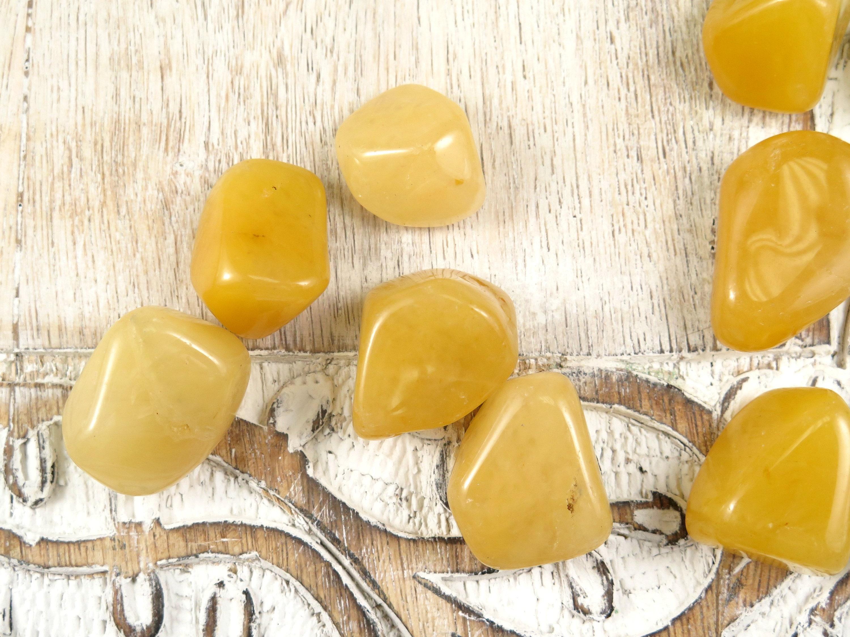 Yellow Aventurine Tumbled Stones - Polished Stones - Reiki Healing ...