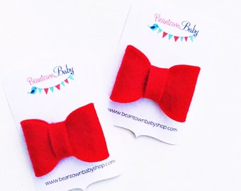 Red Christmas Bow, Red Baby Bow, Red Bows, Christmas Baby Bow, Red Christmas Bow,