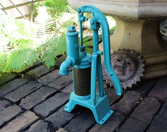 Antique Water Pump Cast Iron and Brass Cistern Pump Rustic Farmhouse