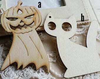 Unfinished Wooden Plate/ Blank Unfinished Wooden Ornament / DIY Ornaments/ Wooden Key Pad DIY / Unfinished Wooden Tags (t.g)
