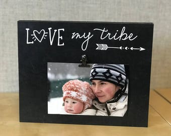 personalized gift for mom photo frame love my tribe mom picture frame birthday - Mom Frame