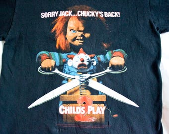 90s Child's Play 2 shirt - Vintage horror movie t-shirt - Scary Chucky film tshirt