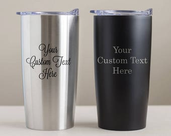 Create Your Own Engraved Stainless Steel Tumbler: Custom Engraved Tumbler, Personalized Tumbler, Personalized Travel Mug, SEE DETAILS
