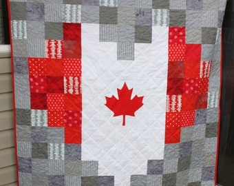Canada Gift Rainbow Quilt Canadian Flag Quilt Heart Quilt : canadian quilts for sale - Adamdwight.com