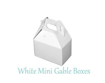 Boxes ,  White Take Out Boxes & Containers , White  Gable Boxes , Barn Boxes , Mini Gable Boxes , Favors, gifts,