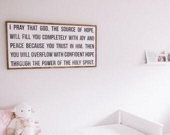 I Pray-Wood Sign