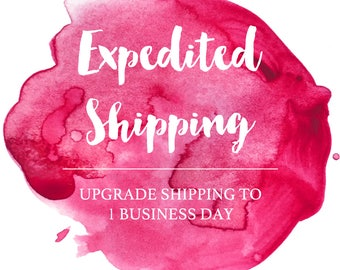 Expedited Shipping - Upgrade Shipping on Printed Invitations